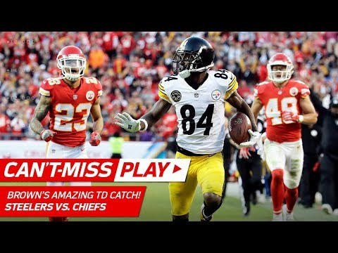 Video: Antonio Brown is a Catch-of-the-Year Nominee w/ this Grab! | Can't-Miss Play | NFL Wk 6 Highlights
