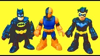 Imaginext Robin becomes Nightwing Batman saves the day Batcave copter Slade Just4fun290
