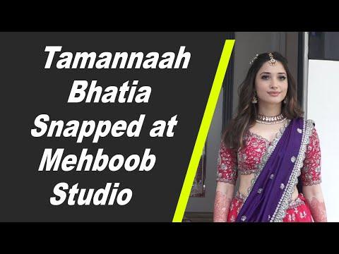 Tamannaah Bhatia Snapped at Mehboob Studio