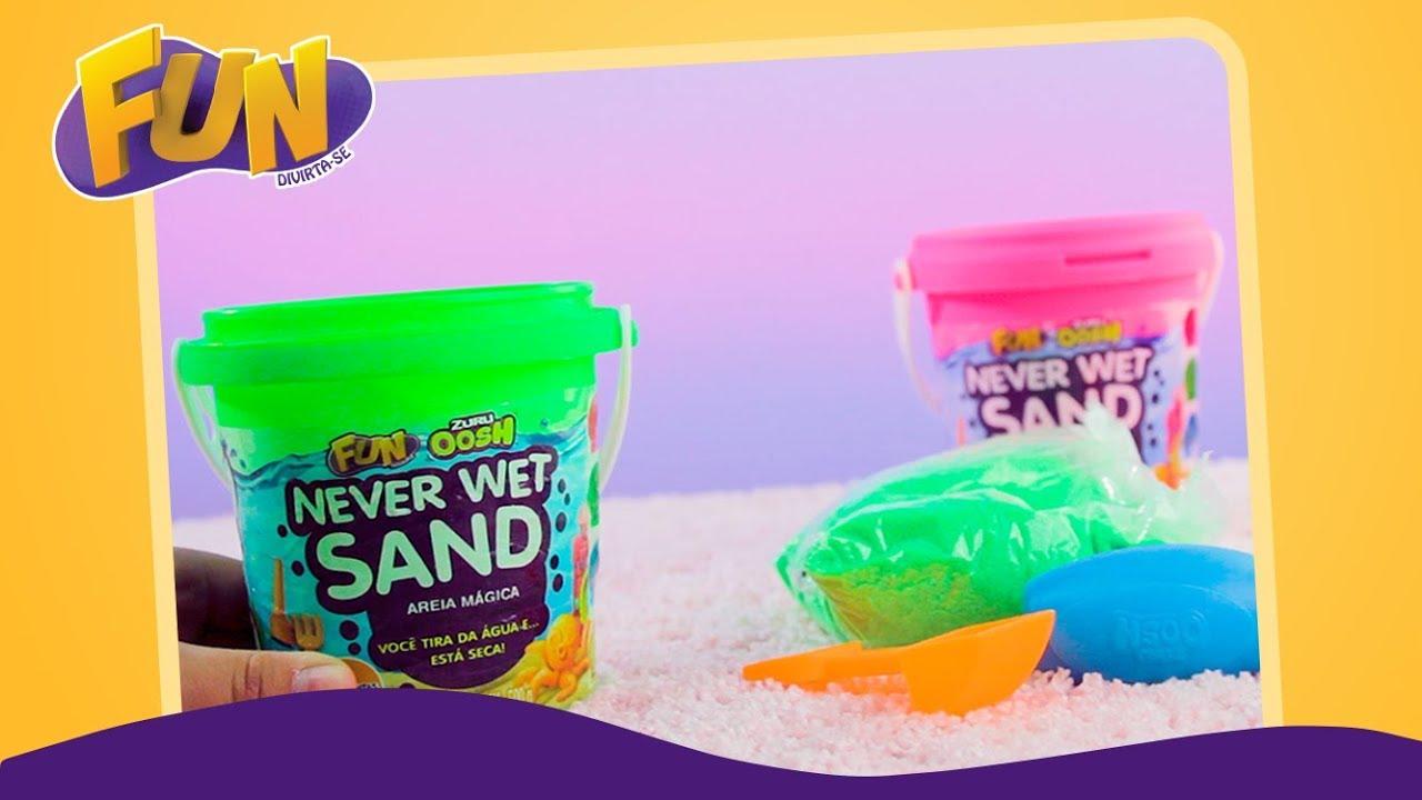 Never Wet Sand Areia Mágica Amarelo Neon