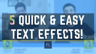 5 Awesome Photoshop Text Effects Tutorial (feat. Tutvid)