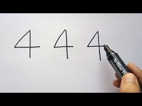 444 with How to draw a house easily