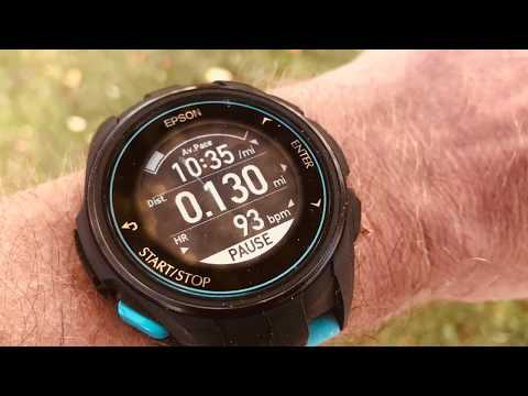 Demonstration Epson ProSense 307 GPS Watch with Wrist Heart Rate