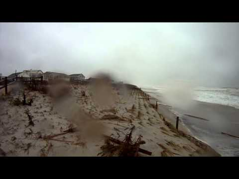 Hurricane Sandy LBI Mid Morning