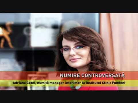 Adriana Cotel, numire controversată la conducerea Institutului Clinic Fundeni