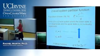 Chem 131B. Molecular Structure&Statistical Mechanics. Lecture 23. Partition Functions Pt. 1