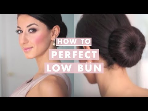 bun - Learn how to create the Perfect Low Bun, worn by celebrities everywhere! Hope you guys enjoy it! What I used: - Chignon foundation - Elastic Band - Lots of b...