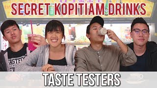 Video TRYING KOPITIAM SECRET MENU DRINKS | Taste Testers | EP 68 MP3, 3GP, MP4, WEBM, AVI, FLV November 2018