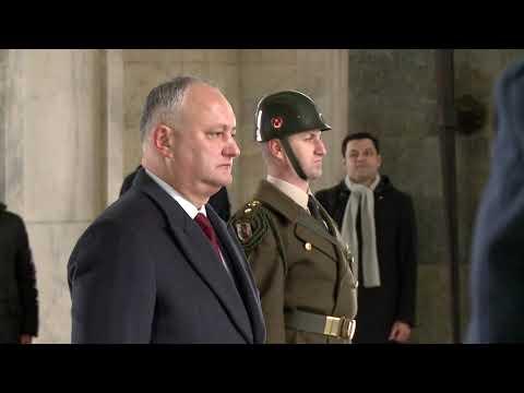 Delegația Republicii Moldova a vizitat Mausoleul lui Mustafa Kemal Ataturk din Turcia