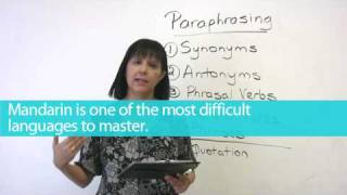 Paraphrasing, English Writing, Learn English with Rebecca