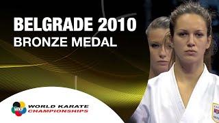 History of Karate. Karate Female Team Kata Bronze Medal. Serbia vs Italy. Performance of Team Serbia in the WKF World...