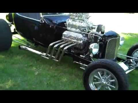 Black, Supercharged Ford Power T-Bucket