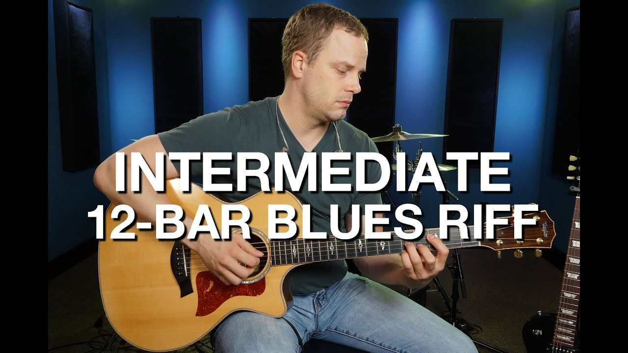 Intermediate 12 Bar Blues Riff – Blues Guitar Lesson #5