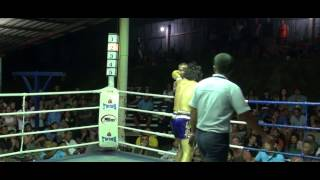 Charlye Vivas Muay Thai Fight Koh Tao Thailand