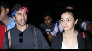 Varun Dhawan and Alia Bhatt Returns from IIFA Spotted at Airport