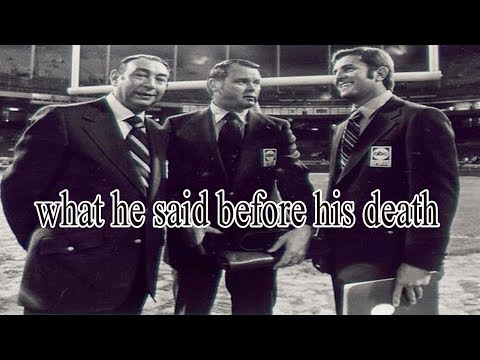 The last of what the legendary sports broadcaster Keith Jackson said before his death