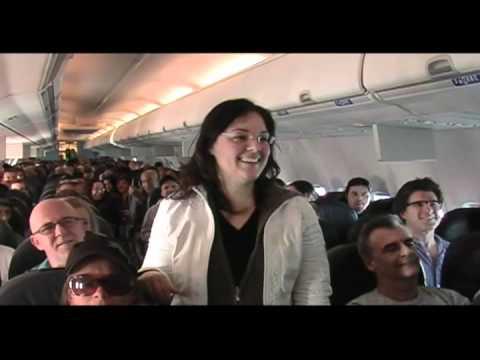 demande en mariage en avion