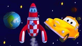 Çekici Tom ve roket Araba Şehri'nde | Araba ve Kamyon inşaat çizgi filmi (çocuklar için)