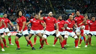 Unstoppable meets immovable: The Sipi Tau versus the Haka! As Tonga take on New Zealand in Rugby World Cup 2015 at St.