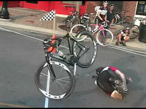 En snygg målgång <s>på cykel</s>