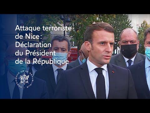 FRANCE : DÉCLARATION DU PRÉSIDENT DE LA RÉPUBLIQUE APRÈS L'ATTAQUE TERRORISTE DE NICE