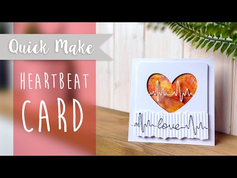 Heartbeat Card - Sizzix