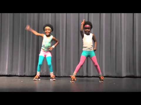 Move Your Body - Elementary school talent show. 5 year old twins edition to Beyonce