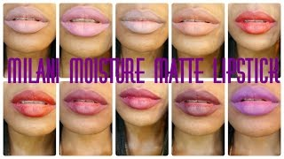 In this video I will be showing some swatches of the Milani Color Statement Moisture Matte Lipstick line. I purchased these lipsticks during a recent CVS sale where they were selling for $2.99 a piece. The colors found in the video are: Matte Innocence Matte NakedMatte BeautyMatte Darling Matte IconicMatte ConfidentMatte FlirtyMatte Love Matte FearlessMatte Glam