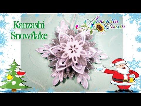 fiocco di neve kanzashi