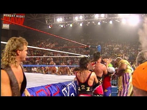 Tatanka vs. Crush: Raw - Lumberjack Match, June 6, 1994