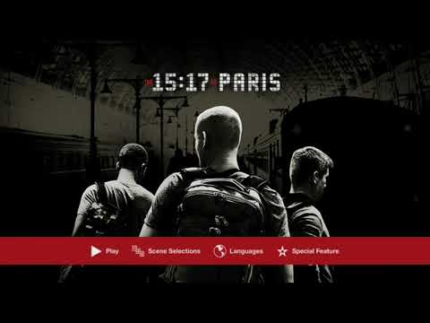 The 1517 To Paris DVD Menu