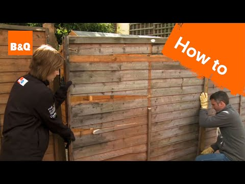 How to fix a broken fence