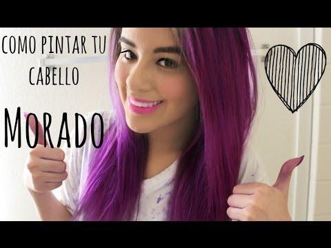 Pinta tu cabello y extensiones color fantasía (Morado) ♡