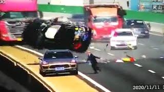 To nie jest plan filmu akcji… Przerażające nagranie z autostrady.