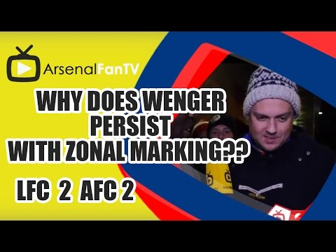 why - Why Does Wenger Persist With Zonal Marking?? - Liverpool 2 Arsenal 2 AFTV ONLINE SHOP : http://goo.gl/rin8oW AFTV APP: IPHONE : http://goo.gl/1TNrv0 AFTV APP: ANDROID: http://goo.gl/uV0jFB.