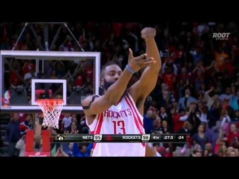 James Harden's clutch stepback jumper to beat Nets