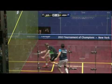 Squash : J.P. Morgan Tournament of Champions 2013 Semi Final Roundup Part1 Willstrop v Ashour