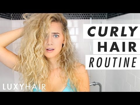 Easy Curly Hair Routine (wet To Dry!) | Luxy Hair