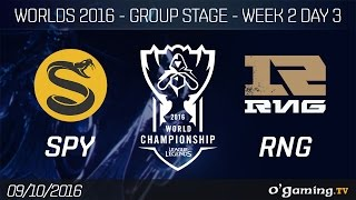 SPY vs RNG - World Championship 2016 - Group Stage Week 2 Day 3