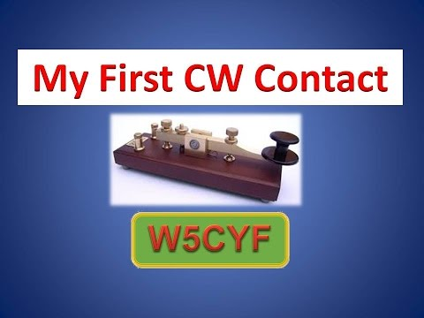 My First CW Contact