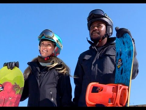 Majozi conquers the snow at Afriski