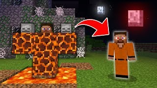 How to Spawn TEST STEVE in Minecraft! (SCARY Survival EP6)