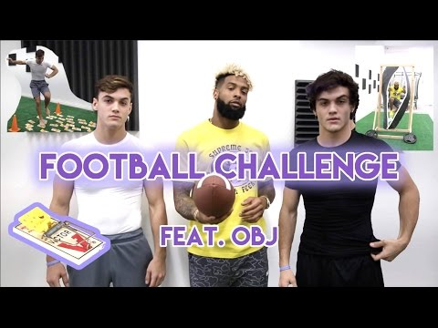 Football Challenge with Odell Beckham Jr.!! (видео)