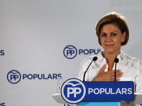 """Cospedal: """"Un Gobierno estable, unido y fuerte es fundamental en Cataluña y en España"""""""