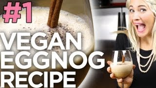 Vegan Eggnog (Christmas Recipe) | The Edgy Veg