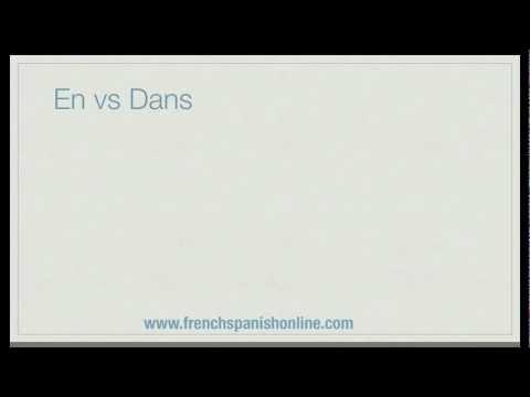 En vs Dans auf Französisch in
