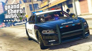 GTA 5 PC Mods - PLAY AS A COP MOD #8! GTA 5 Police K-9 DOG LSPDFR Mod Gameplay! (GTA 5 Mod Gameplay)