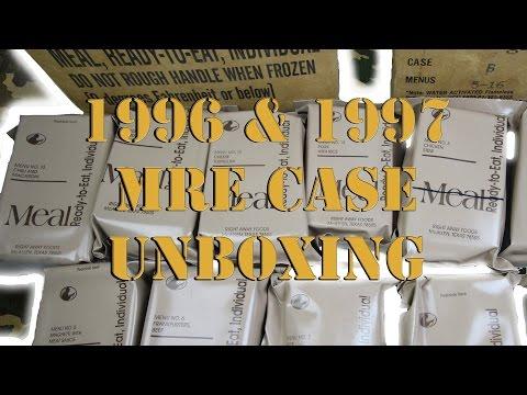 (ASMR-E) | VINTAGE 1996 & 1997 MRE CASE UNBOXING (видео)