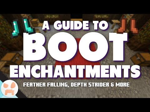 BOOT ENCHANTMENT GUIDE! | Feather Falling, Depth Strider, & more