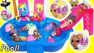 Video L.O.L. Surprise! Dolls Glitter Pets at Pool with My Little Pony MP3, 3GP, MP4, WEBM, AVI, FLV Agustus 2018